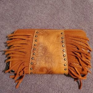 Montana West leather clutch/wallet